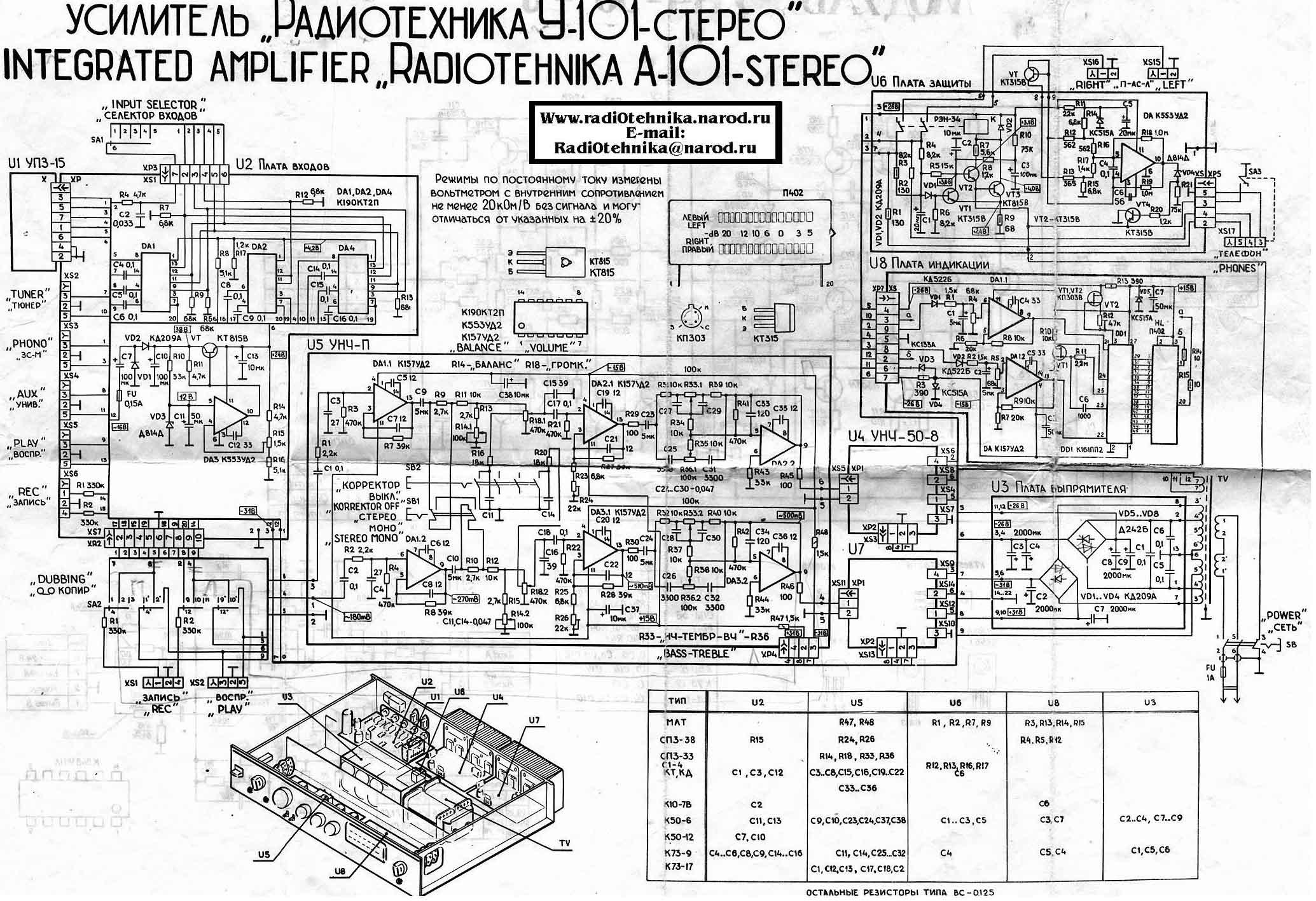 "Ремонт Усилка  ""радиотехника У-101 "" (И Снова Он) - опубликовано в Аудиоаппаратура: Здравствуйте всем."